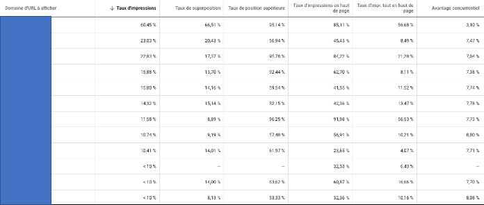 rapport analyse des enchère Google Ads